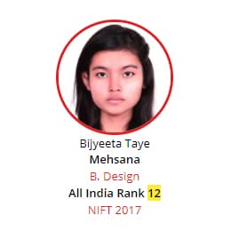 NIFT Rank 12 from BRDS