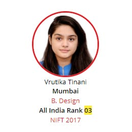 NIFT Rank 3 from BRDS