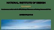 NID Admission 2017-18 Vijaywada Brochure
