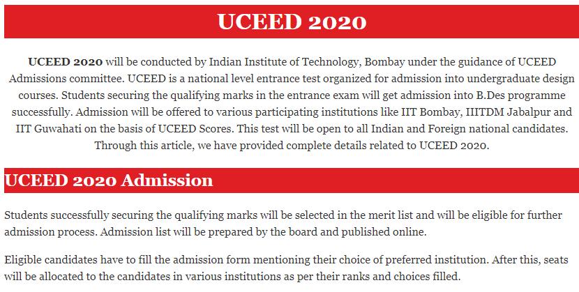 UCEED 2020: Eligiblity, Exam Date,Syllabus,Preparation, Coaching,Books