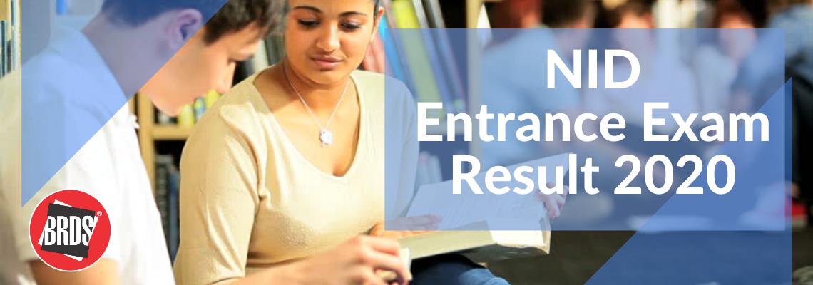 NID Entrance Exam Result 2020 for B.Des
